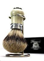Silver Tip Badger hair Shaving Brush for Men with Stainless steel brush holder