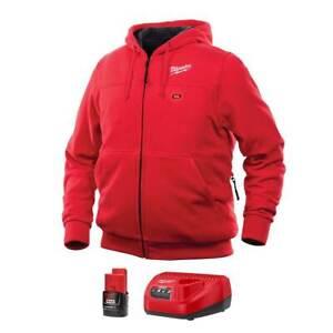 Milwaukee 302R-21M M12 12V Lithium-Ion Medium Heated Red Hoodie Kit