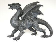 großer dunkler Drache, 31 cm  breit , Fantasy Figur, Wächter Drache, Gothik WGT