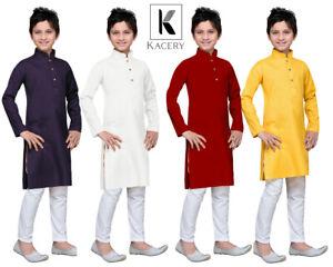 Boy's Kid's Indian Cotton Kurta Pajama salwar kameez ethnic outfit BK580