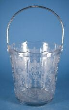 Cambridge Glass Clear Rose Point Ice Bucket