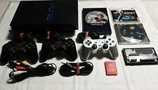Sony PlayStation 2 PS2 Fat Schwarz Spielekonsole PAL kompl Zubehörpaket getestet