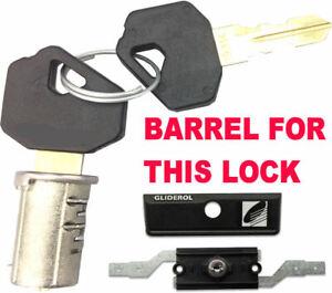 """GLIDEROL Garage Roller Shutter Door Lock BARREL & 2 Keys 5"""" NEW STYLE version"""
