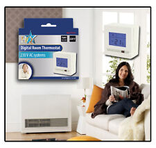DIGITAL Display Electronic LCD ROOM THERMOSTAT For Central Heating Easy to Use