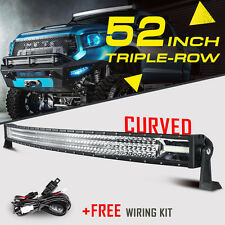 "Tri-Row 52"" 2610W Curved CREE LED Work Light Bar Spot Flood Offroad For Ford 54"""