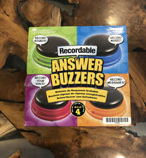 LEARNING RESOURCES RECORDABLE ANSWER BUZZERS SET OF 4 (Open Box)