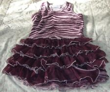 OOH! LA, LA! COUTURE! LITTLE GIRLS SIZE 6X/7 GORGEOUS PURPLE ANIMAL PRINT DRESS