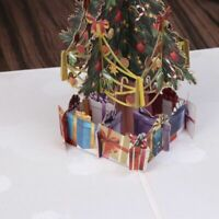 3D Pop Up Cards Holiday Greeting Handmade Gift Christmas Thanks Merry Xmas Tree