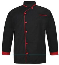 Leorenzo Genesis IN-07 Men Chef Jacket Pipings in 10 Colours