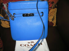 NWT Coach swagger swingpack in polished pebble leather AZURE