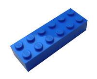Lego 50 Stück blaue Steine 2x6 Stein in blau (2456) Basics City Baustein Neu