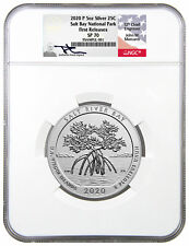 2020 P Salt River Bay NP Ecological 5oz Silver Specimen ATB NGC SP70 FR Mercanti