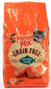 1 Meow Mix Complete & Balanced Nutrition Grain Free Wild Caught Salmon BB 4-1-22