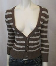 AUTHENTIC SIG ABERCROMBIE & FITCH CARDIGAN KNITTED SWEATER BLOUSE SZ S VIC-THOR1