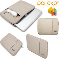 Beige laptop sleeve carry bag case cover pouch For Macbook Pro Air 11.6 13 15 17