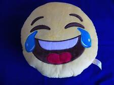 Puckator Emoti Cry Laughing Smiley Face Plush Cushion 27cm Pillow Emoticon Fun