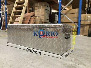 Aluminium Toolbox Top Open Rectangular UTE TRUCK TRAILER Tool Box 950 x300 x 300