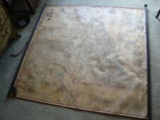 "Rare Original Hand Colored 1862 Walling's Wall Map Of Maine: 62"" X 62""."