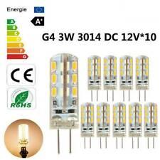 10pcs G4 LED 3W 24*3014SMD Warm White Light Bulb Halogen 220LM 360°Beam DC 12V/