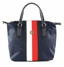 TOMMY HILFIGER Poppy Small Tote Corporate Handtasche Umhängetasche Corporate Neu