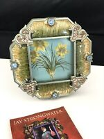 Jay Strongwater Frame Handcrafted Enamel Crystals Hearts NEW