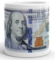 100 Dollar Bill Ceramic Coffee Mug Tea Cup