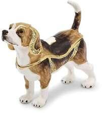 Bejeweled Beagle Trinket Box