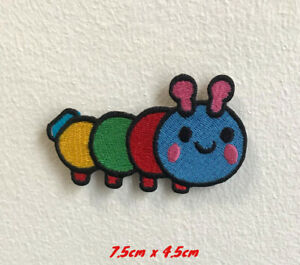 Cute Colourful Caterpillar Ant Patch Embroidered Iron on Sew on Patch