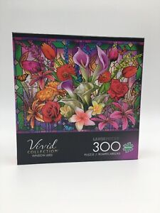 "Buffalo Vivid ""Window Lillies"" Spring Easter Flowers 300 Large Pieces Age 14+"