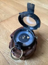 Original ww1 British officers trench compass in leather case c1916