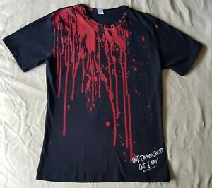 """Shakespeare Macbeth Out Damned Spot T-shirt 38"""" Adult XL Globe Theatre Halloween"""