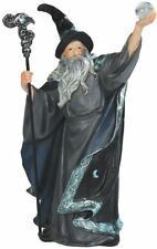 "7.5"" Wizard w/ Crystal Ball Magician Fantasy Decoration Sculpture Magic Merlin"