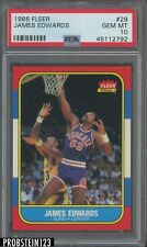 1986 Fleer Basketball #29 James Edwards Suns PSA 10 GEM MINT