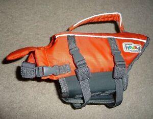 Outward Hound Pet Saver Life Jacket Vest Orange & Black X-Small Dogs 5-15lbs NEW