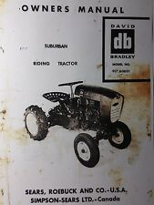 Sears db David Bradley Riding Garden Tractor & Engine Owner & Parts (2 Manuals)