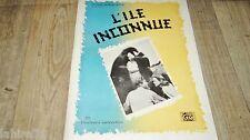 L'ILE INCONNUE !  scenario dossier presse cinema fantastique dinosaures 1948