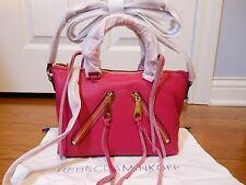 New Authentic $195 Rebecca Minkoff Micro Moto Leather Satchel Bag Handbag