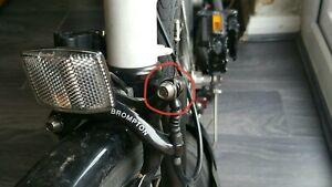 Brompton bike TITANIUM brake cable bolt