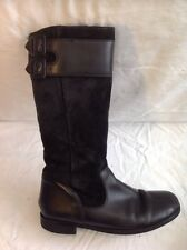 Start-Rite Black Mid Calf Suede Boots Size 4.5G