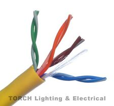 NEW 1000' ft. BELDEN 4PR CAT 5E PVC YELLOW CABLE 1583A 004U1000 Gigabit Ethernet