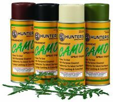 Permanent Camo Spray Paint Kit with Leaf Stencil drab Tan,Brown,Black,Olive Hunt