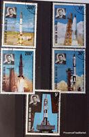 Haute Volta Burkina Fasso Stamps Space Kennedy Apollo Gemini AD56