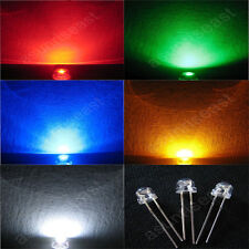 1000 5mm Straw Hat Led Light Lamp Red Green Blue White Yellow Wide Angle