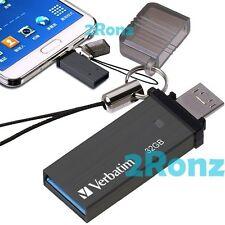 Verbatim OTG Tiny 32GB 32G USB 3.0 Flash Drive Disk Mobile Android PC Titanium