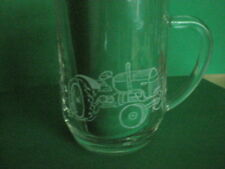 Personalised Freehand Engraved Pint Beer Glass Tankard Tractor Name Added FREE