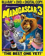 NEW Madagascar 3: Europe's Most Wanted (Blu-ray/DVD, 2012, 2-Disc Set)