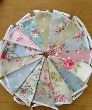 HANDMADE CATH KIDSTON FLORAL SPOT FABRIC GARDEN PARTY WEDDING CLARKE BUNTING