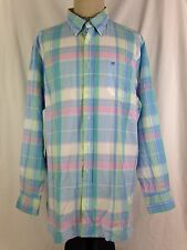 Southern Tide Mens Shirt XL Size Casual Blue Plaid Classic Fit Ocean Channel NWT