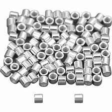 100 Sterling Silver Crimp Beads Neckalce Bracelet Jewelry Making Parts 1 x 1mm