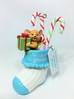 RARE HTF American Greetings Grandson Mouse in Stocking Christmas Gift Ornament
